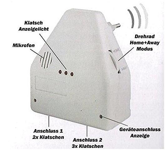 Clapper Klatschschalter Akkustikschalter Steckdose Lampen Klatsch - Haus & Garten Haushalt 2