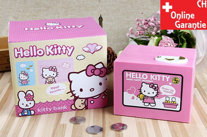 Hello Kitty Hello Geld Münz Dose Sparschwein Spardose Sparbox Geschenk Kinder Baby & Kind 2