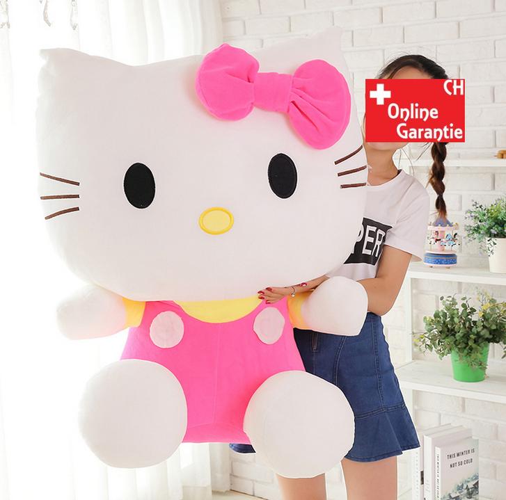 Hello Kitty Plüschtier Hellokitty Plüsch Kuschel Katze Geschenk Mädchen Pink Rosa 100cm 1M XXL Grösse Spielzeuge & Basteln