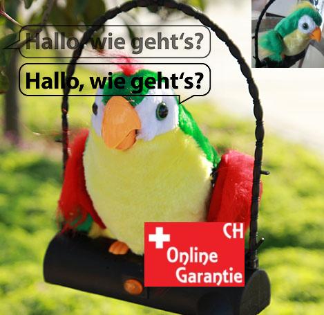 Papagei Spielzeug mit Soundeffekt spricht alles nach Plüschtier Geschenk Kind Kinderzimmer Lustig Spassig Kinderspielzeug Kind Geschenk Lustig Spassig Talking Spielzeuge & Basteln