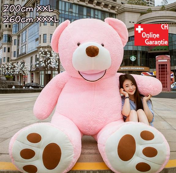 Plüsch Bär Teddybär XXL Teddy 260cm XXXL Pink Geschenk Kind Kinder Frau Freundin Rosa Weihnachten Geburtstag 200cm 260cm XXL XXXL Spielzeuge & Basteln