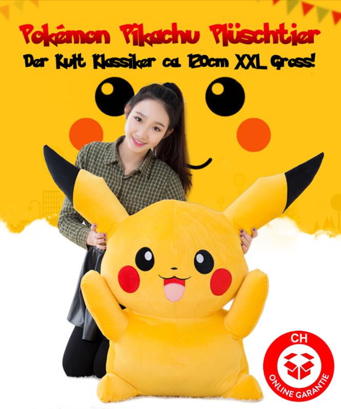 Pokémon Pokemon Pikachu Plüsch Plüschtier 120cm XXL Geschenk Kind Kinder Fans Spielzeuge & Basteln