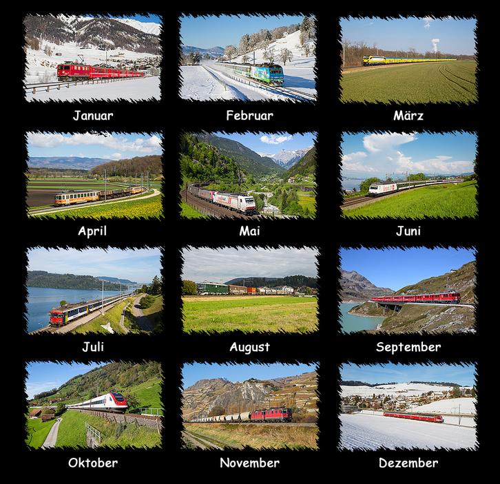 Schweizer Eisenbahnkalender  Foto & Video 2