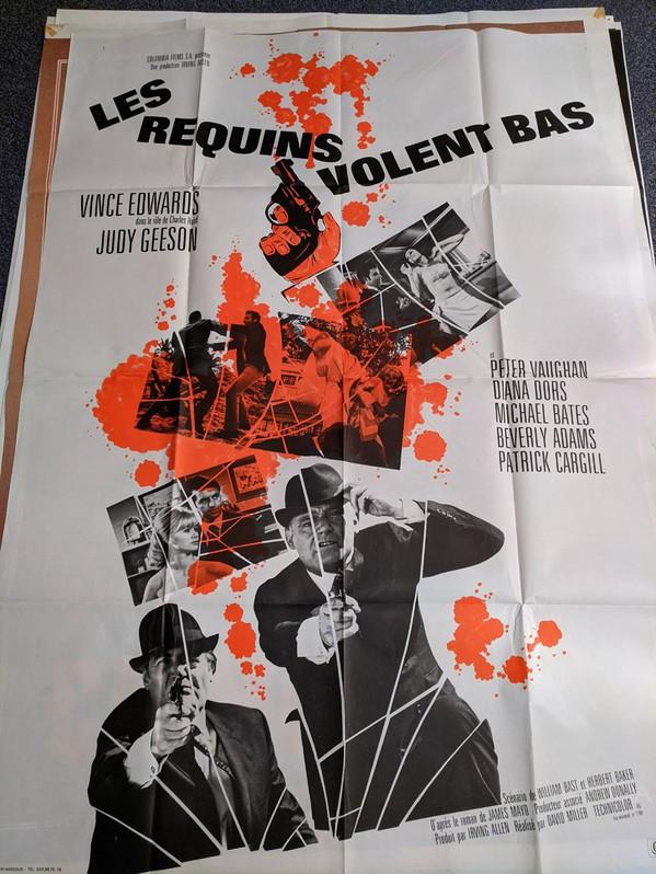 1967 Schweizer Film Plakat  Flower Power 60er James Bond Antiquitaeten