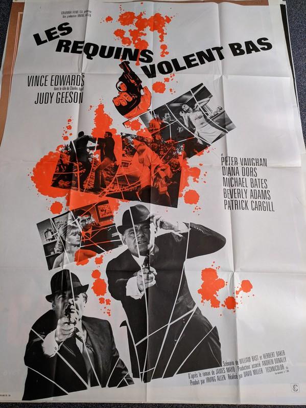 1967 Schweizer Film Plakat  Flower Power 60er James Bond Antiquitaeten 4