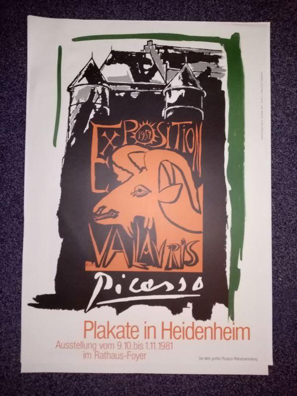 1981 Plakat Picasso Vallauris sign Schweiger Sammeln 3