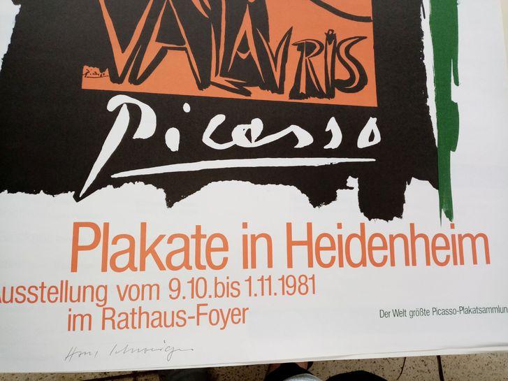 1981 Plakat Picasso Vallauris sign Schweiger Sammeln 4