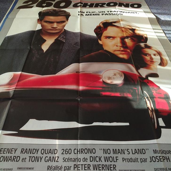 1987  Porsche 911 auf Film Plakat   260  Chrono Sammeln