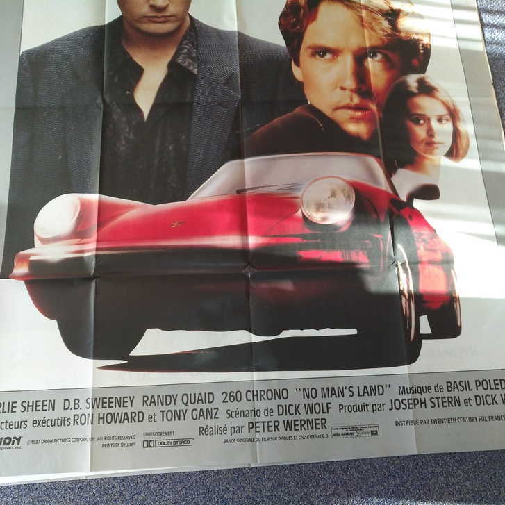 1987  Porsche 911 auf Film Plakat   260  Chrono Sammeln 4