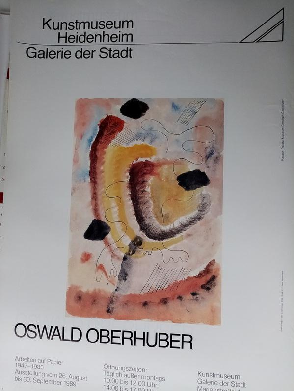 1989 Plakat Heidenheim    Oswald Oberhuber  Antiquitaeten
