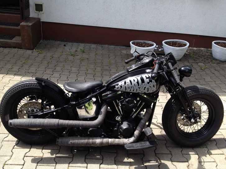 1998 Harley Davidson FATBOY Evo Springer Bobber FXST Fahrzeuge 2