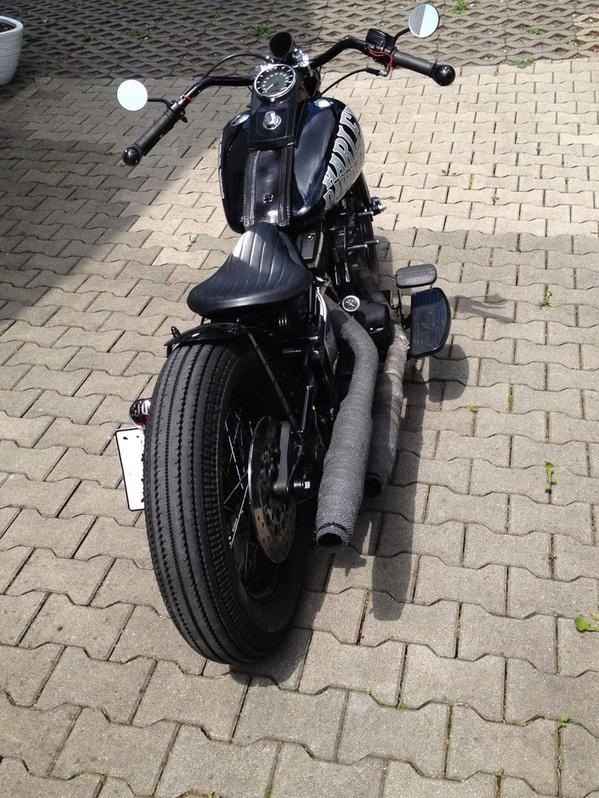 1998 Harley Davidson FATBOY Evo Springer Bobber FXST Fahrzeuge 3