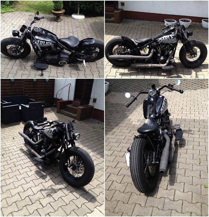 1998 Harley Davidson FATBOY Evo Springer Bobber FXST Fahrzeuge 4