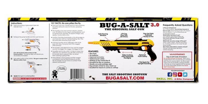 BUG-A-SALT 3.0 Anti Fliegen Gewehr Salz Gewehr Fliegengewehr Salzgewehr Schrotflinte Flinte Gadget Sommer Haushalt 4