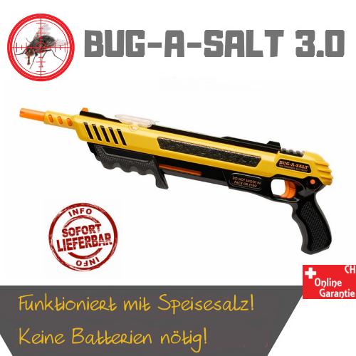 BUG-A-SALT 3.0 Anti Fliegen Gewehr Salz Gewehr Fliegengewehr Salzgewehr Sommer Fliegenklatsche USA Garten & Handwerk