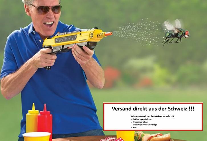 BUG-A-SALT 3.0 Anti Fliegen Gewehr Salz Gewehr Fliegengewehr Salzgewehr Sommer Fliegenklatsche USA Garten & Handwerk 2