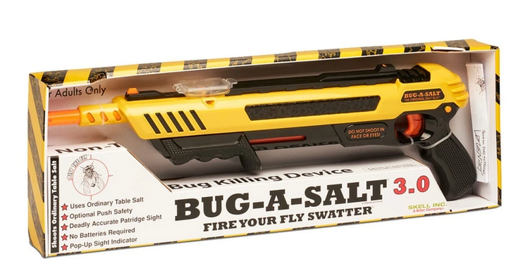 BUG-A-SALT 3.0 Anti Fliegen Gewehr Salz Gewehr Fliegengewehr Salzgewehr Sommer Fliegenklatsche USA Garten & Handwerk 3