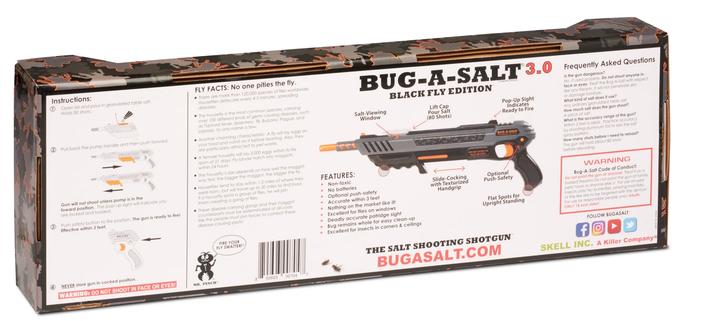 Bug-A-Salt 3.0 Salz Gewehr Pistole gegen Fliegen Mücken Sommer Salzgewehr Fliegenklatsche / Neu BLACK FLY EDITION Sport & Outdoor 4