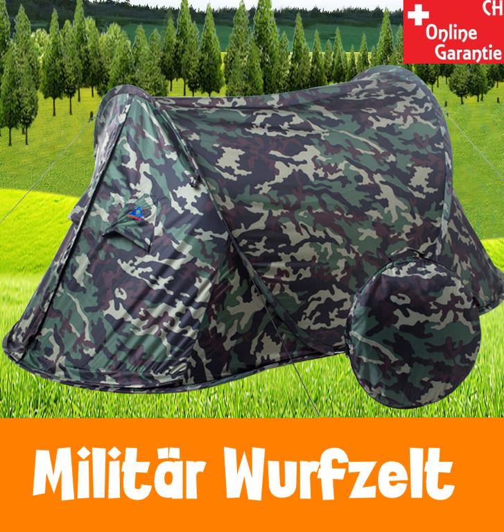 Camouflage Getarntes Militär Wurf Zelt Wurfzelt Pop Up Zelt Camping Festival Jagd Schnell Rapid Openair Popup Zält kleines Packmass Sport & Outdoor
