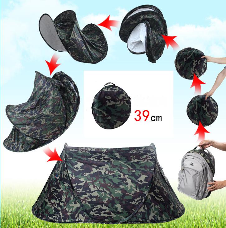 Camouflage Getarntes Militär Wurf Zelt Wurfzelt Pop Up Zelt Camping Festival Jagd Schnell Rapid Openair Popup Zält kleines Packmass Sport & Outdoor 2