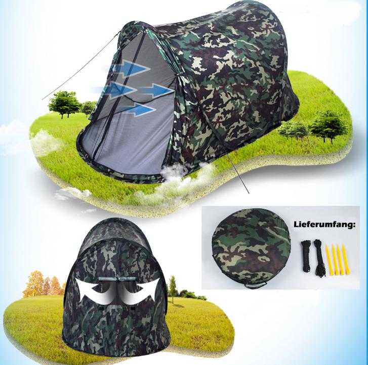 Camouflage Getarntes Militär Wurf Zelt Wurfzelt Pop Up Zelt Camping Festival Jagd Schnell Rapid Openair Popup Zält kleines Packmass Sport & Outdoor 3