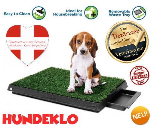 Deluxe Hunde Klo WC Hundeklo Hundewc Welpen Toilette Trainingsgerät Welpentoilette mit Behälter Stubenrein Tiere