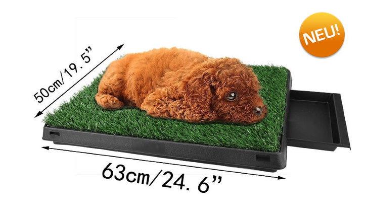 Deluxe Hunde Klo WC Hundeklo Hundewc Welpen Toilette Trainingsgerät Welpentoilette mit Behälter Stubenrein Tiere 3