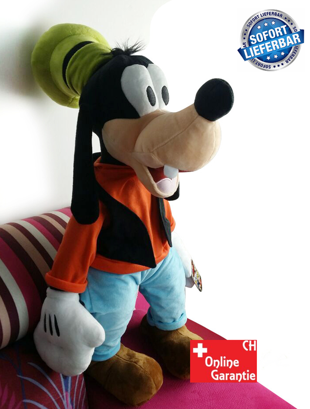 Disney Goofy Plüsch 75cm grosses Plüschtier Kuscheltier Puppe Geschenk Kind XXL Spielzeuge & Basteln