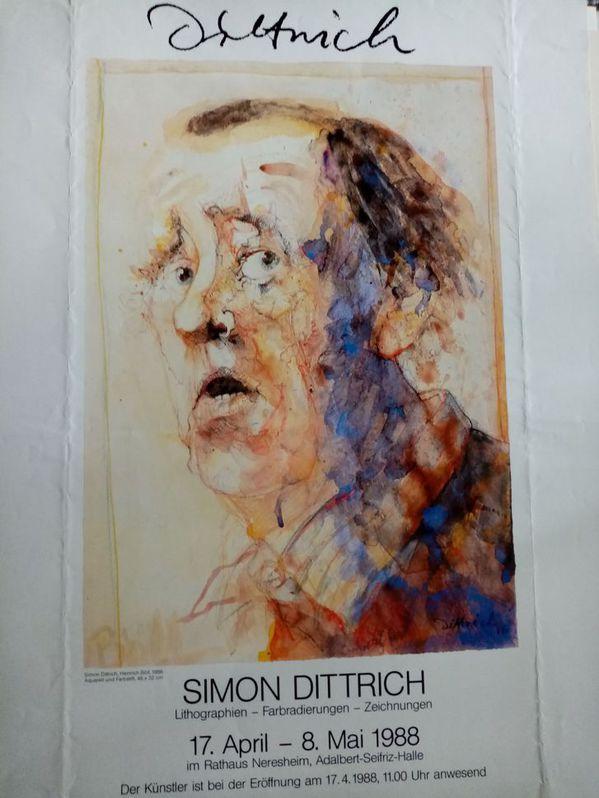 Dittrich Ausstellungsplakat 1988 Neresheim H Böll Sammeln 2