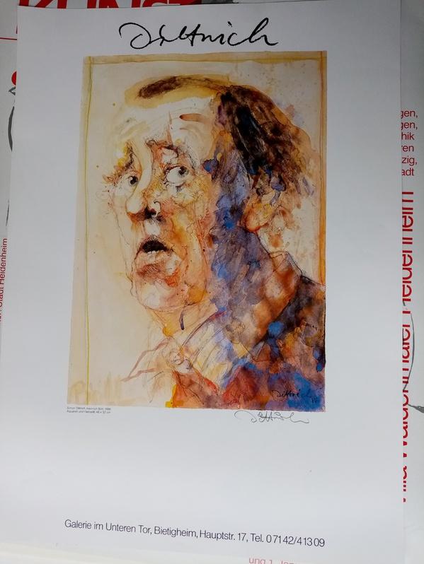 Dittrich Ausstellungsplakat 1988 Neresheim H Böll Sammeln 4