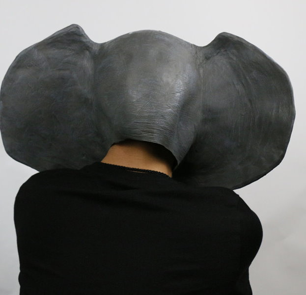 Elefanten Maske Elefantenmaske aus Latex Tiermaske Fasnacht Karneval Halloween Party  Kleidung & Accessoires 3