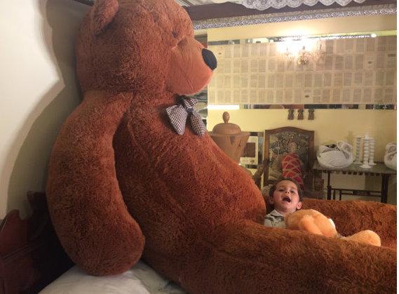 Gigantischer XXXL Plüsch Teddybär Bär Plüschbär Teddy Ted Dunkelbraun Plüschtier Kuscheltier Geschenk Kind Kinder Freundin XXL Spielzeuge & Basteln 2