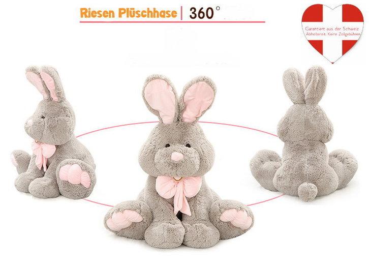 Grosser Plüsch Hase Plüschhase Häschen Bunny Geschenk Kinder Freundin 120cm XXL Spielzeuge & Basteln