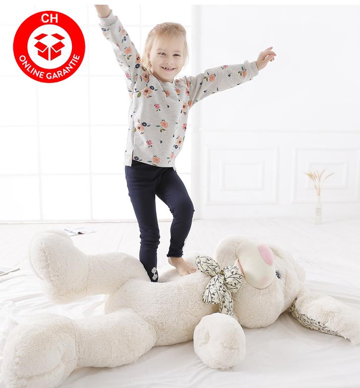 Grosser Plüschhase Hase Hasi Bunny Kaninchen Plüsch Plüschtier Kuschel Geschenk für Kind Kinder Freundin Frau Weiss Spielzeuge & Basteln 2