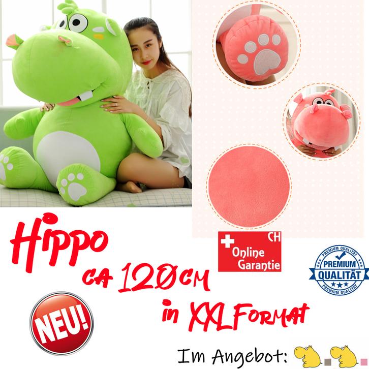 Grosses Plüsch Hippo Nilpferd Flusspferd Geschenk 120cm XXL Geschenk Kind Kinder Frau Freundin Baby & Kind 2