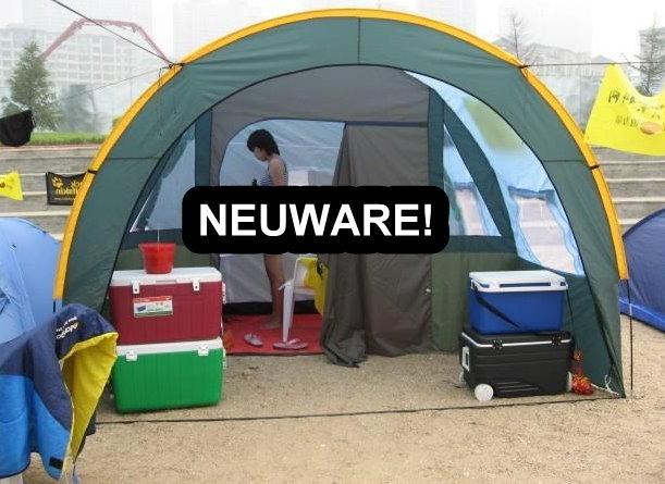 Grosses Tunnel Zelt Partyzelt Hauszelt Festzelt Camping Reisen Wandern Festival Schlafabteil für ca. 5-8 Personen Sport & Outdoor 2
