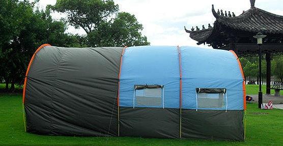Grosses Tunnel Zelt Partyzelt Hauszelt Festzelt Camping Reisen Wandern Festival Schlafabteil für ca. 5-8 Personen Sport & Outdoor 4