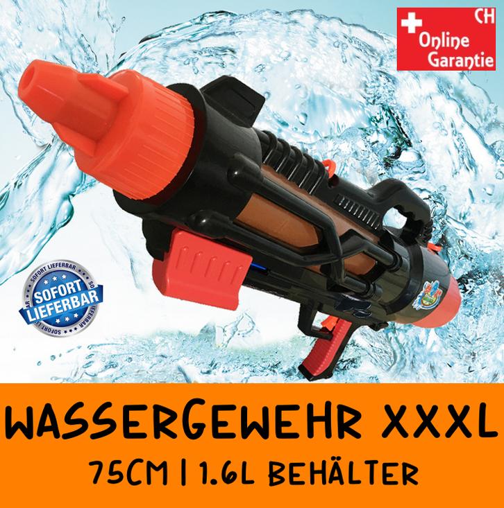 Grosses Wassergewehr Wasserpistole Wasser Pistole Gewehr mit Grossen 1600ml Tank / Behälter / Neu Wasserspielzeug für Sommer Spielzeuge & Basteln
