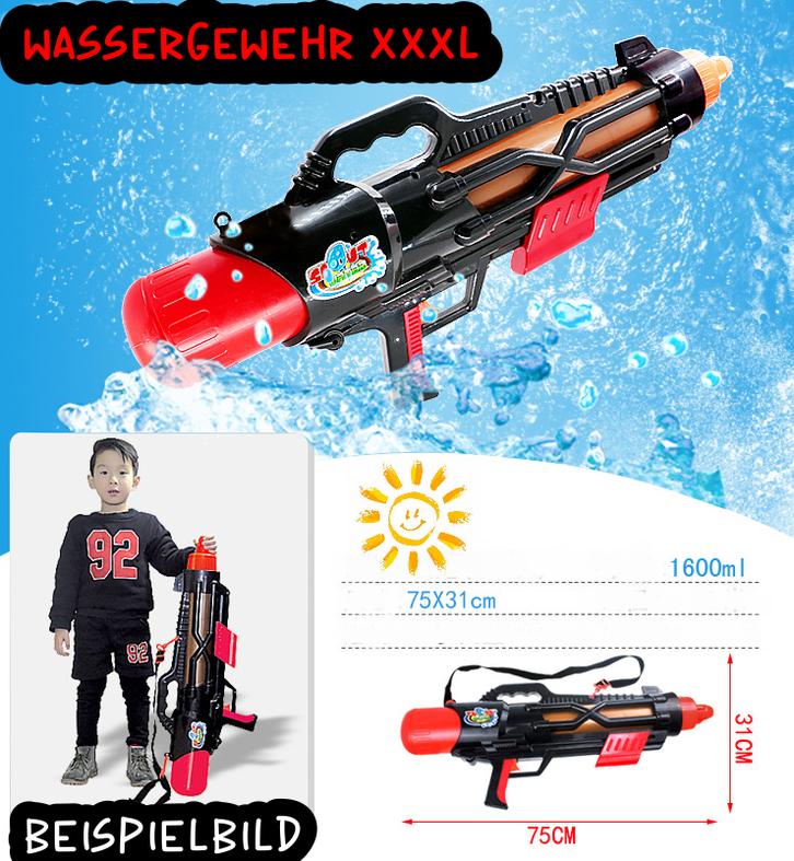 Grosses Wassergewehr Wasserpistole Wasser Pistole Gewehr mit Grossen 1600ml Tank / Behälter / Neu Wasserspielzeug für Sommer Spielzeuge & Basteln 2
