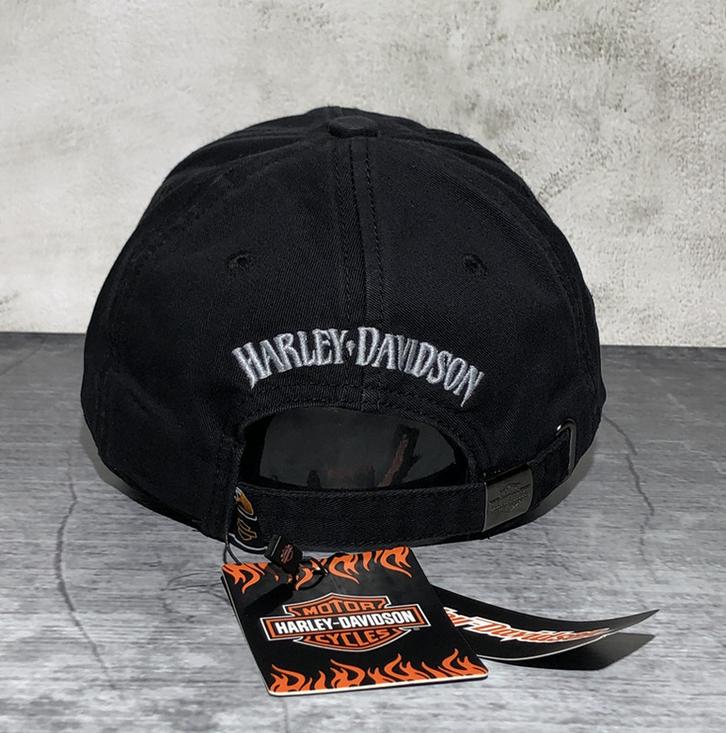 Harley-Davidson Cap Harley Kappe Mütze Biker Skull HD Fan Schwarz Kleidung & Accessoires 3