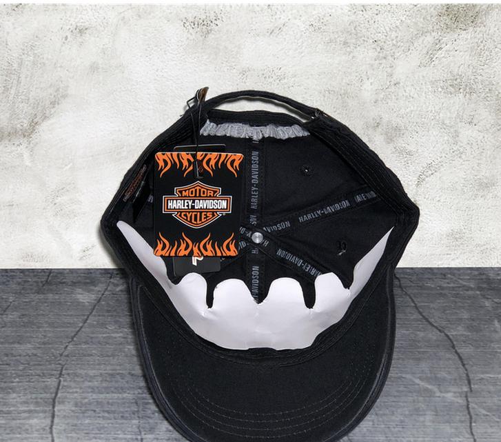 Harley-Davidson Cap Harley Kappe Mütze Biker Skull HD Fan Schwarz Kleidung & Accessoires 4