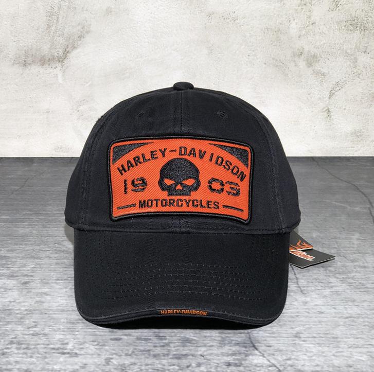 Harley Harley-Davidson Cap Harley Kappe Mütze Biker Skull HD Fan Schwarz Sport & Outdoor