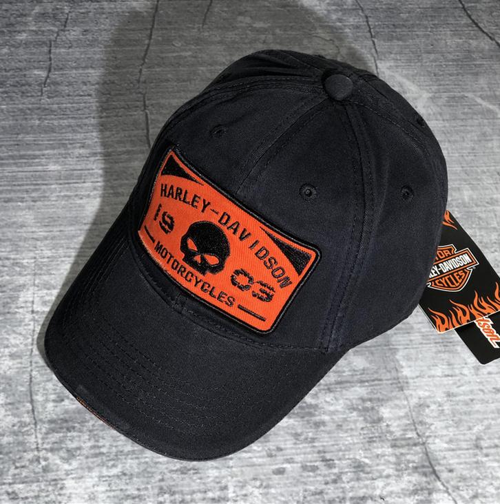 Harley Harley-Davidson Cap Harley Kappe Mütze Biker Skull HD Fan Schwarz Sport & Outdoor 2