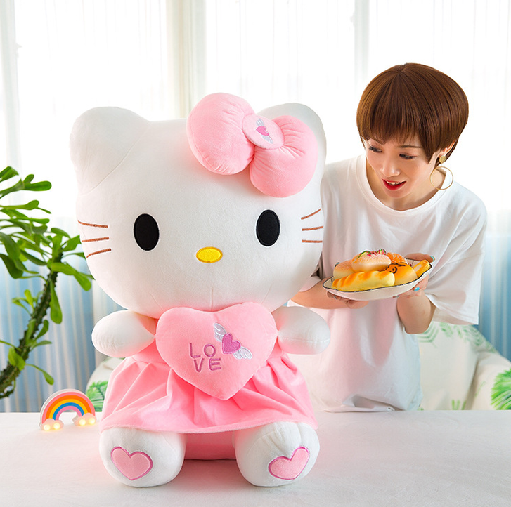 Hello Kitty Hellokitty Plüschtier Katze Herz Love Plüschtier 70cm Geschenk Kind Mädchen Liebe Love Herz Spielzeuge & Basteln