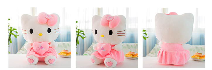 Hello Kitty Hellokitty Plüschtier Katze Herz Love Plüschtier 70cm Geschenk Kind Mädchen Liebe Love Herz Spielzeuge & Basteln 3