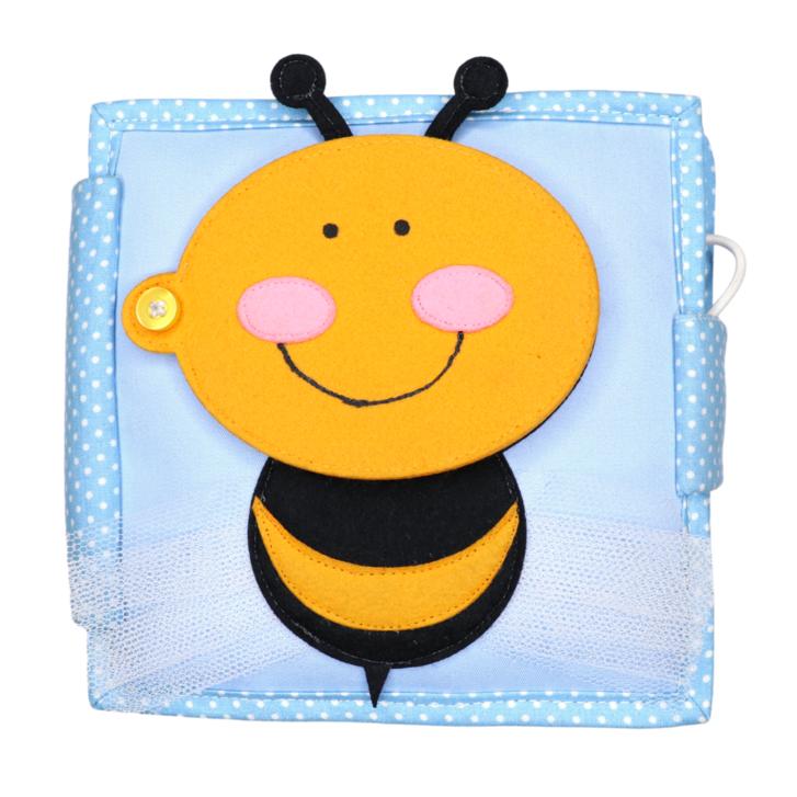 Kleine Biene - 6 Seiten Mini Quiet Book Spielzeuge & Basteln