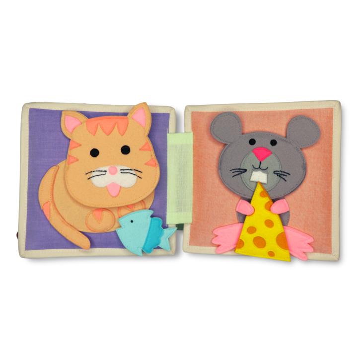 Kleine Biene - 6 Seiten Mini Quiet Book Spielzeuge & Basteln 2