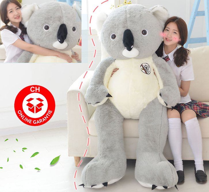 Koala Bär Koalabär Plüsch Plüschtier XXL 140cm 1.4m Koalabärchen Australien Geschenk Kind Kinder Frau Freundin Grau oder Pink Spielzeuge & Basteln