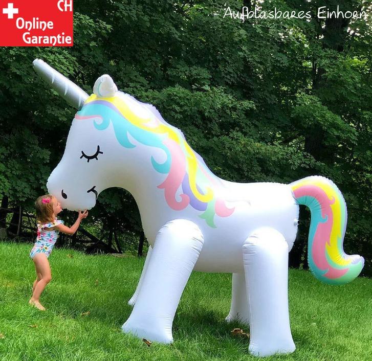 Mega Einhorn Sprinkler Wasser Spielzeug Sommer Garten Kinder Zuhause Pool Badi Wasserspielzeug Unicorn XXL Spielzeuge & Basteln