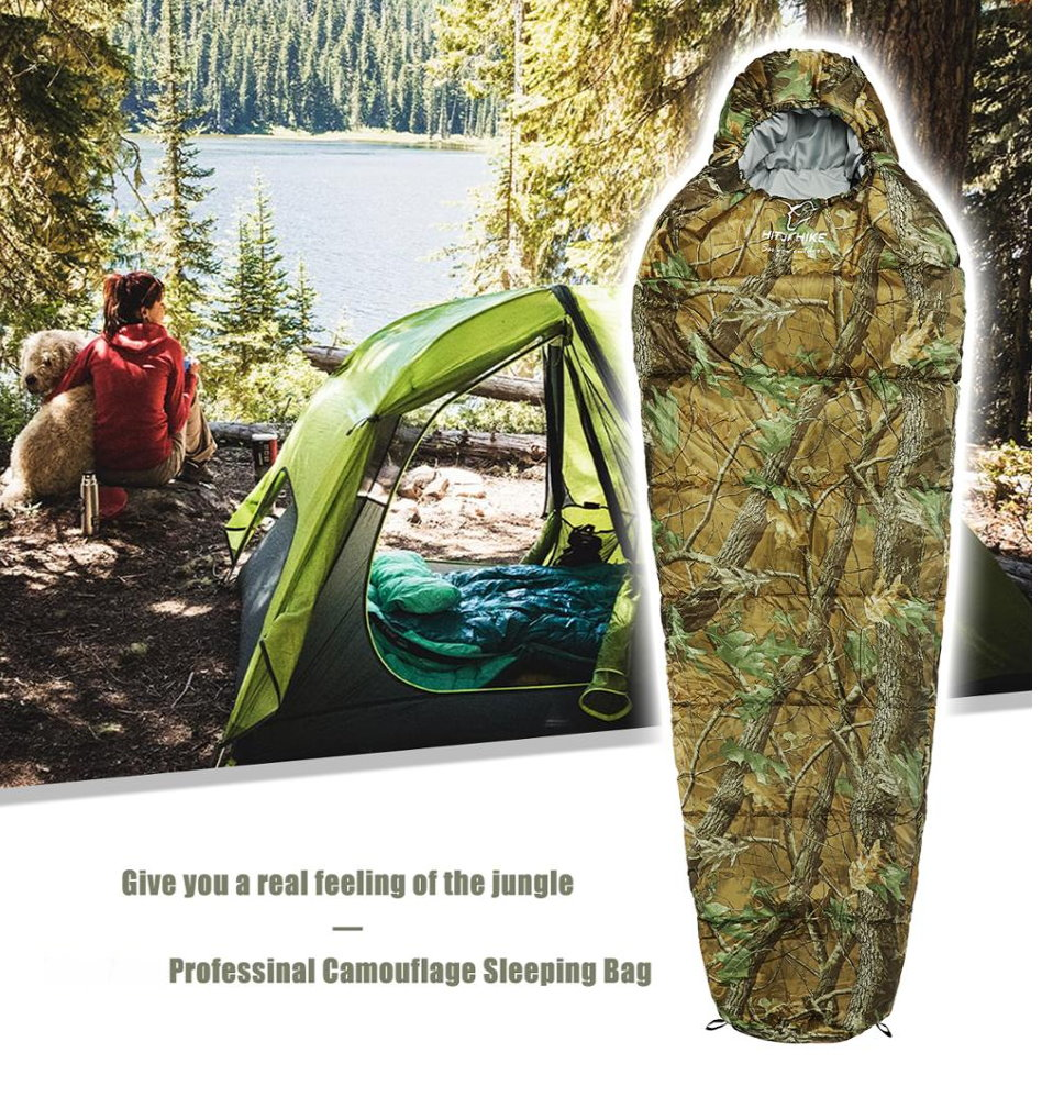 Militär Schlafsack Camouflage Mumienschlafsack Schlack Sack Matte Camping Outdoor Festival Konzert Wald Berge getarnt ca. 220 * 80cm 4 Jahreszeiten Sport & Outdoor 2